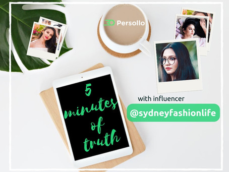 5 minutes of truth with influencer - Ayushi @sydneyfashionlife