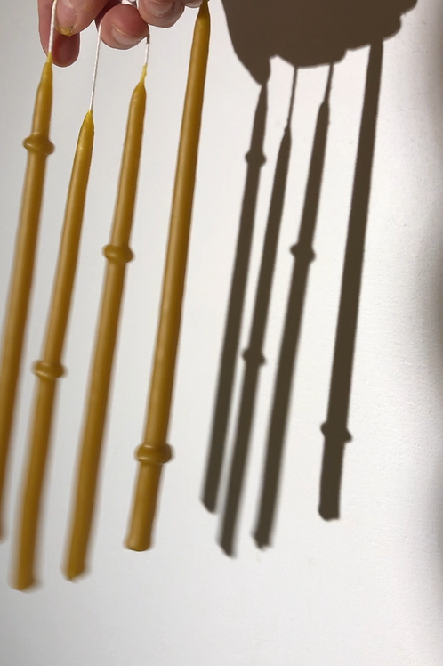 Asymmetrical Ringed Tall Thin Tapers (Pack de 4)