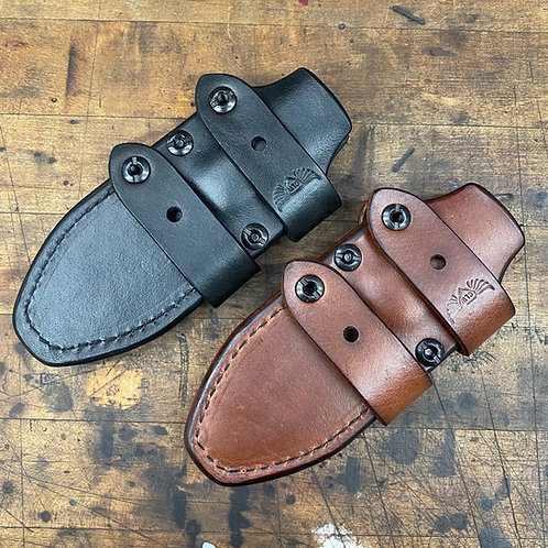 Matt Helm Dogbone Leather Sheath, By Chattanooga Leather Works