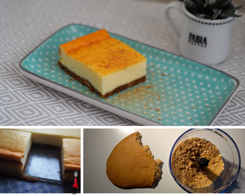 Cheesecake mit Lebkuchenboden