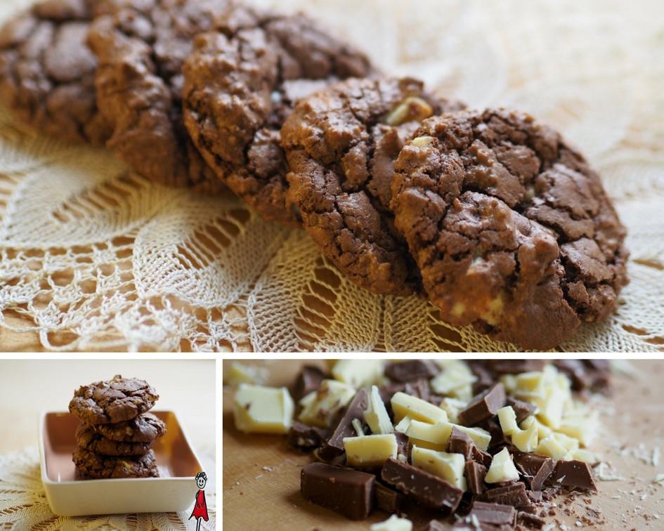Triple-Schokoladencookies