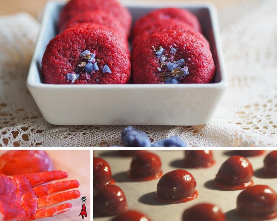 Rote Keks oder Red Velvet Cookies