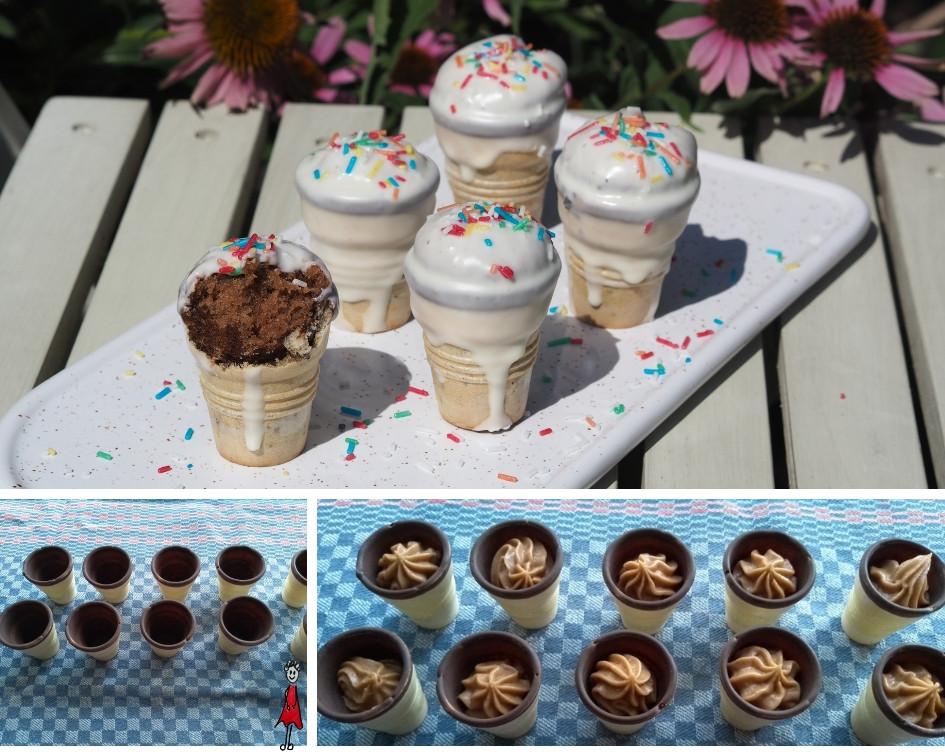 Kuchen im Eisbecher