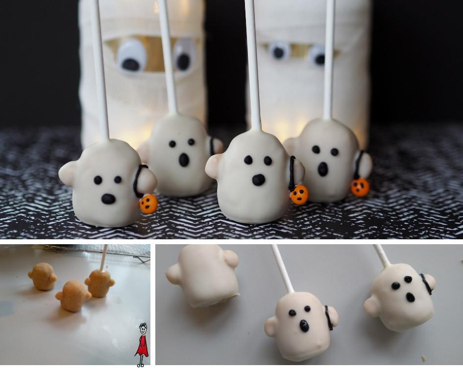Geister Cake Pops