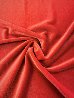Stretch Velvet Orange Red