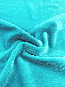 Stretch Velvet Teal