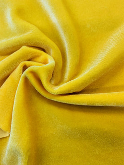 Stretch Velvet Yellow