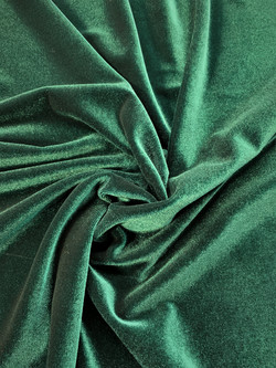 Stretch Velvet Green