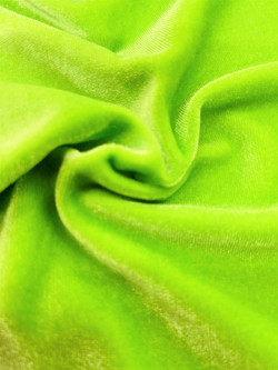 Stretch Velvet Lime Green