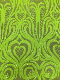 Sequin Neon Green