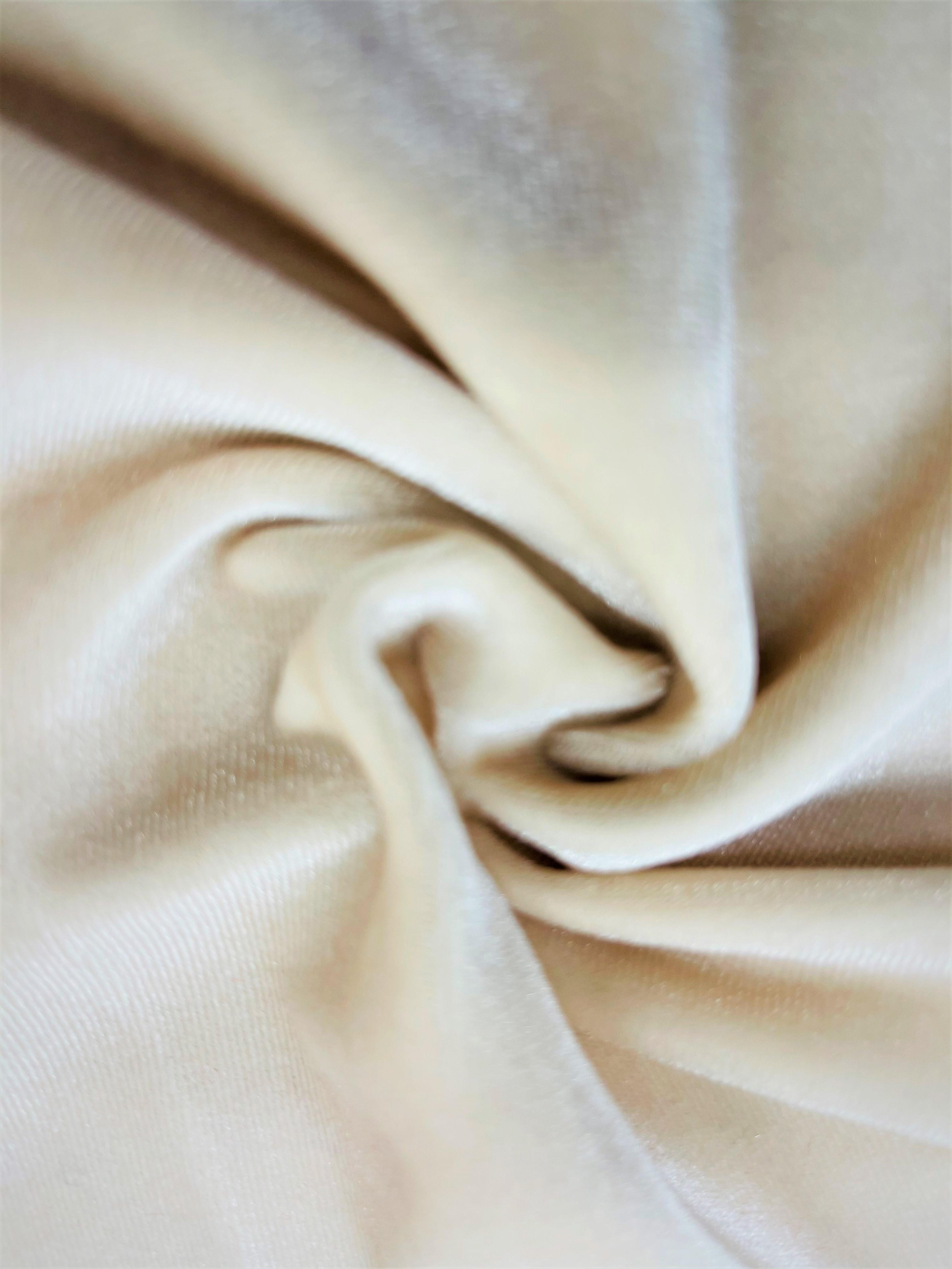 Stretch Velvet Ivory