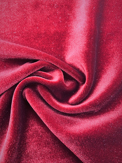 Stretch Velvet Red