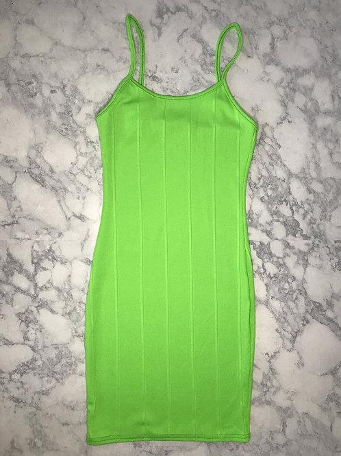 Neon Green Mini Dress