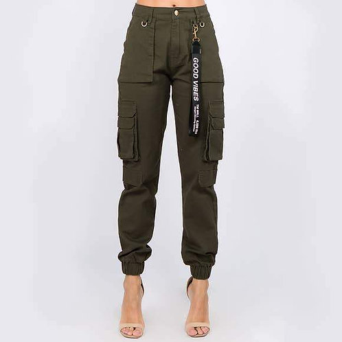 Good Vibes Cargo Joggers