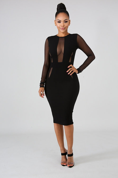 Black Excellence Midi Dress