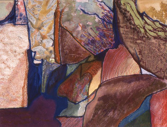 Watercolor, color pencil, pastel