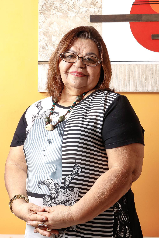Assistente social e feminista, Socorro Santos contribuiu para o movimento de mulheres em Vitória. Crédito: Diêgo Albuquerque Fotografia