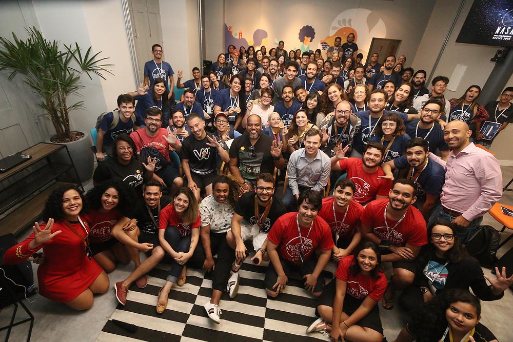 Participantes da 1ª Edição do NASA Space Apps Challenge in Recife / Arquivo NASA in Recife