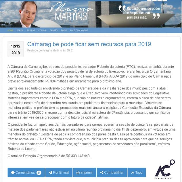 Blog do Magno 2018