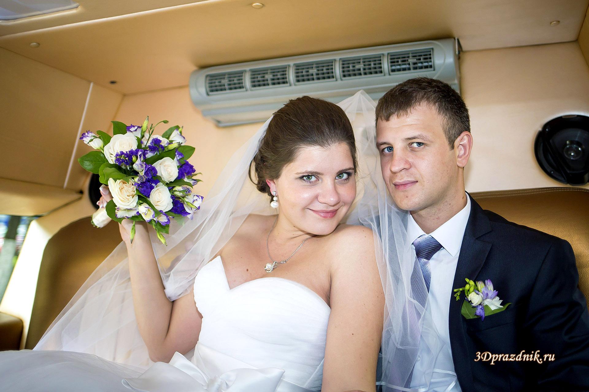 В свадебном лимузине