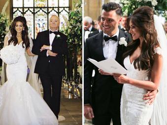 Фотографии со свадьбы Майк Райта и Мишель Киган.
