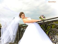 Невеста Ирина. Ветер. Фата.