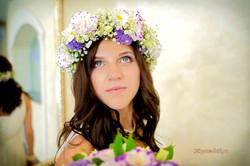 Невеста Елена свадебный венок