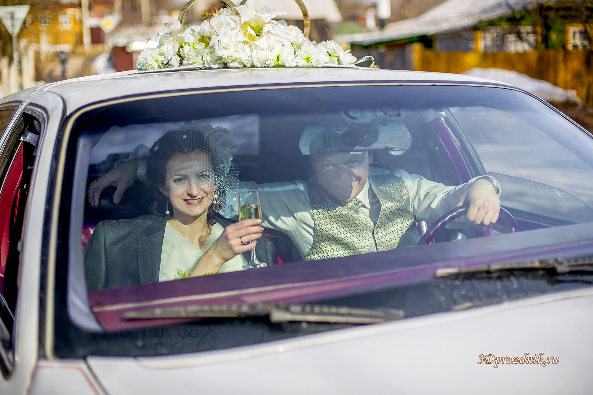 Александр и Анна свадебный лимузин