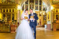 Максим и Светлана. После венчания.