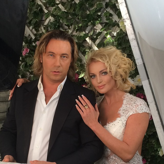 Волочкова в образе невесты