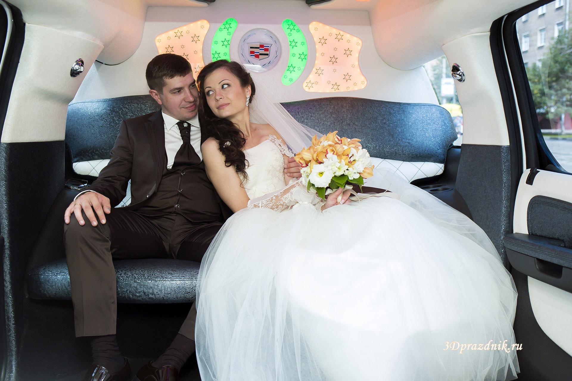 Владимир и Алла в лимузине