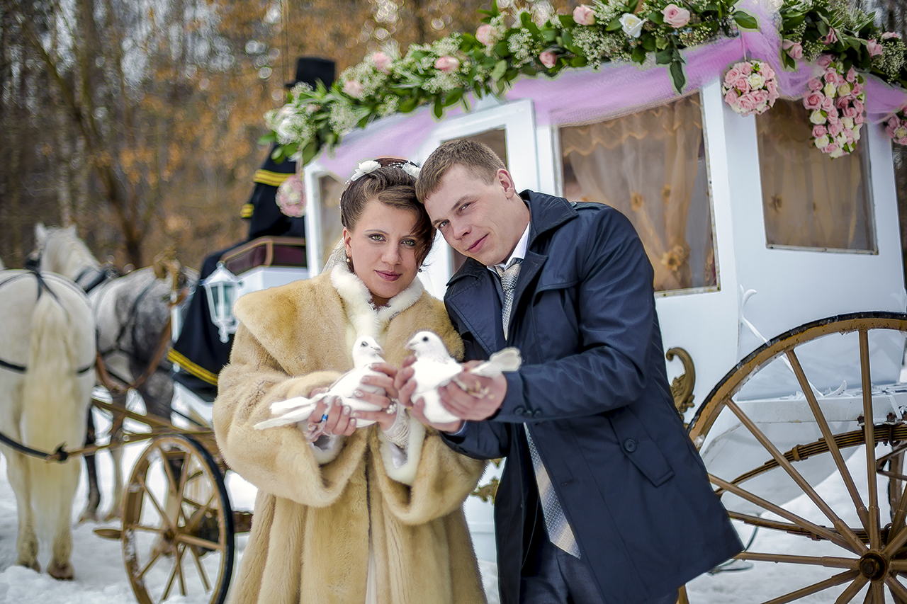 Александр и Анна. Карета и голуби.