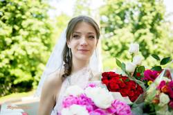 Невеста Ольга. Букеты роз.