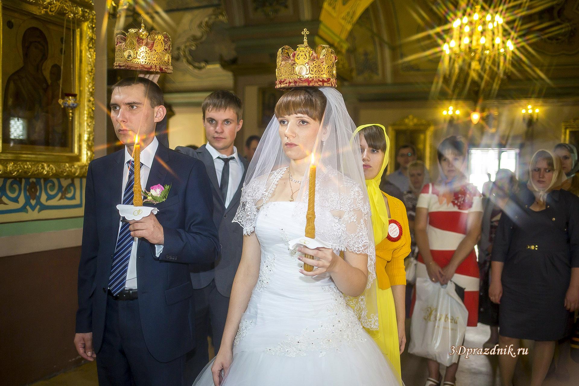 Венчание. Донская церковь в Москве.