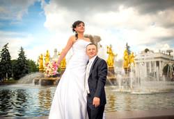 Свадебная прогулка фонтан ВВЦ