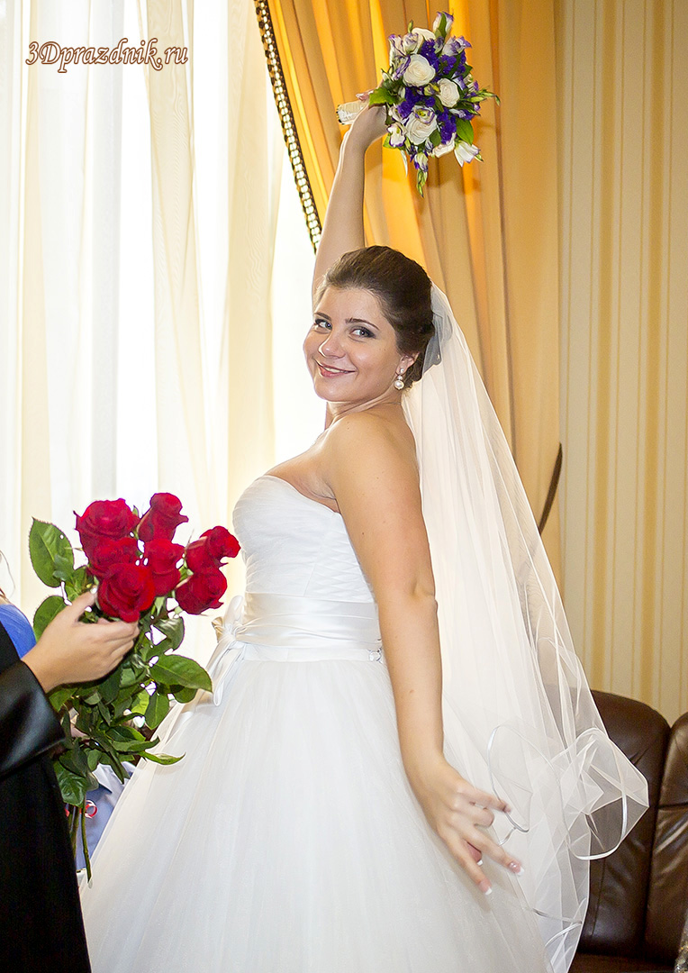 Невеста Ирина. Букет Алых роз