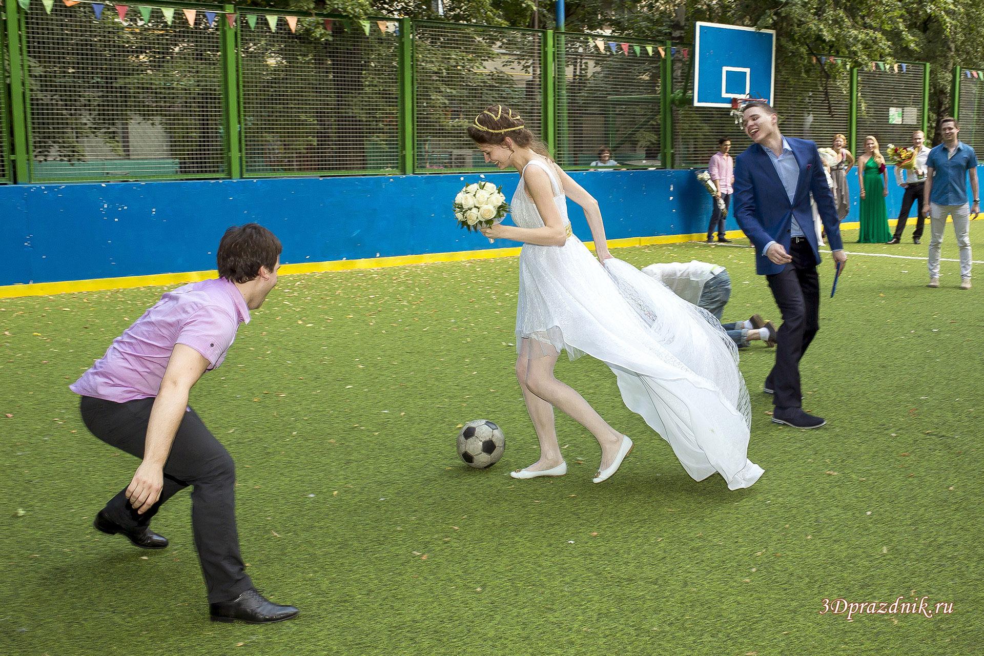 Свадебный футбольный матч