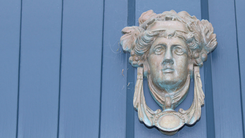 Door Knocker in Nairn`s Fishertown by Airts & Pairts - Elle Tyler