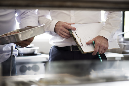 Observer in a kitchen with chef.jpg