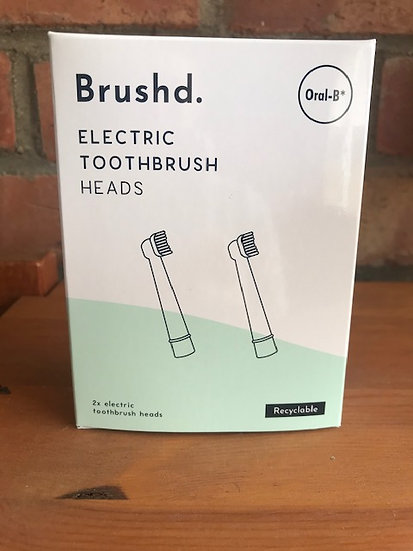 Recyclable electric toothbrush heads for Oral-B (2 pack)