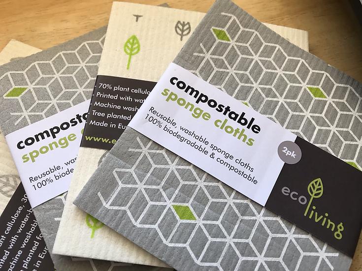 Compostable sponge cloths (printed)