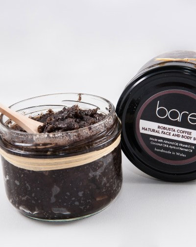 Robusta coffee body & face scrub by Bare (260g)