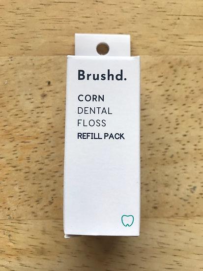 Natural corn dental floss refill (2 pack)