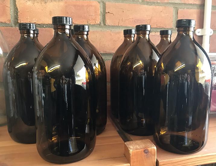 Amber screw top bottle (1 litre)