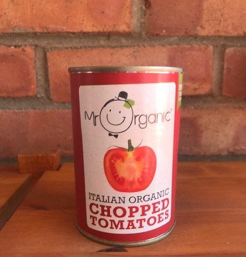Organic tinned tomatoes (400g)