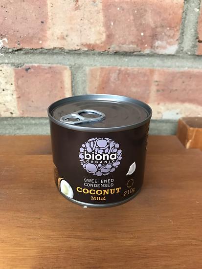 Organic sweetened coconut condensed milk ((210g)