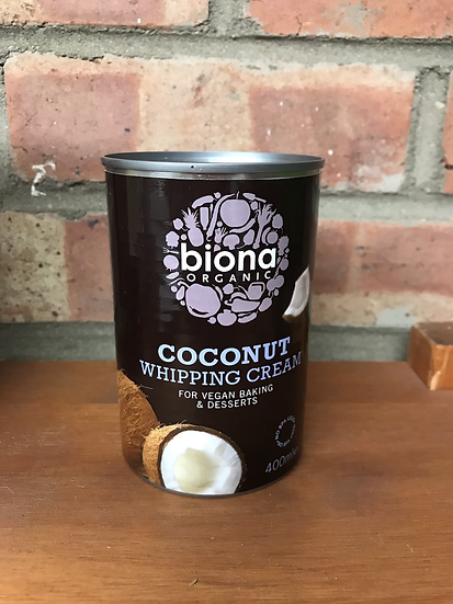 Organic coconut whipping cream (400ml)