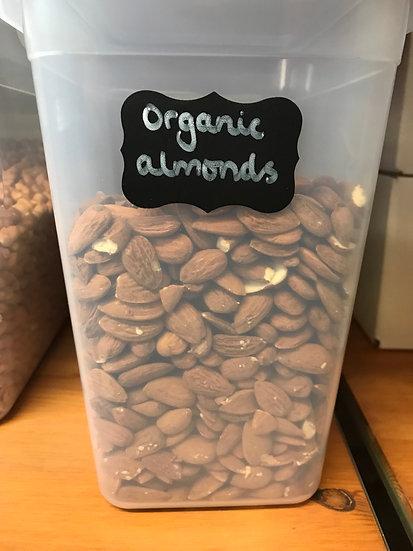 Organic almonds (100g)