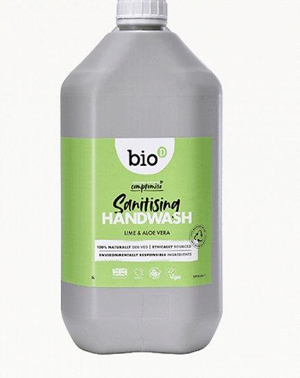 Bio-D sanitising hand wash - lime & aloe vera (100ml)