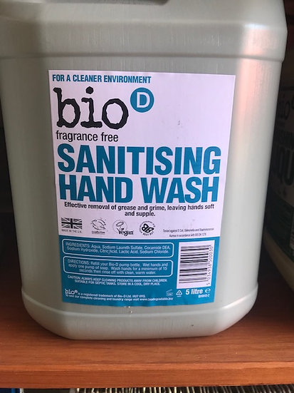 Bio-D handwash - fragrance free (100ml)